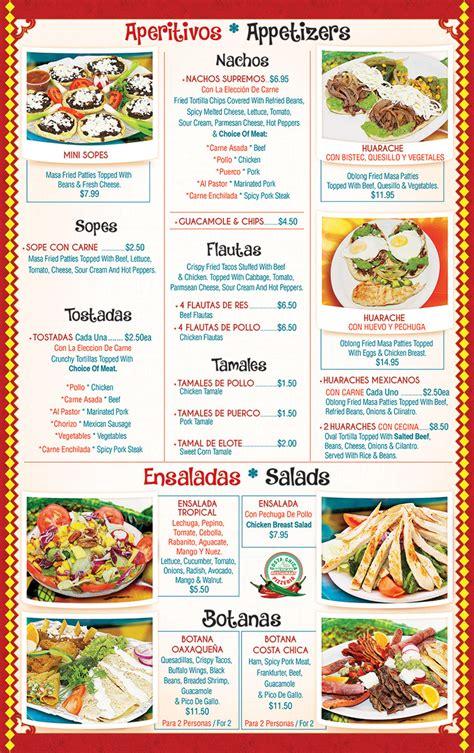 NJ Mexican Restaurant Menu   Costa Chica Restaurant