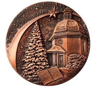 Noche de Paz, Noche de Amor en una medalla de Austria ...
