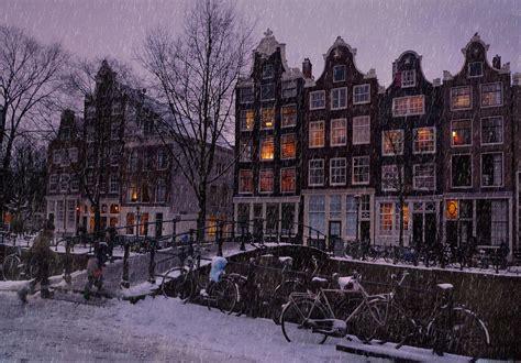 Noite do inverno em Amsterdã. Wallpapers cidades para o ...