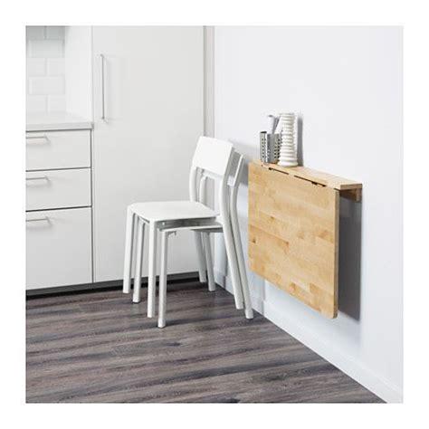 NORBO Mesa abatible de pared, abedul | Mesa abatible, Ikea ...
