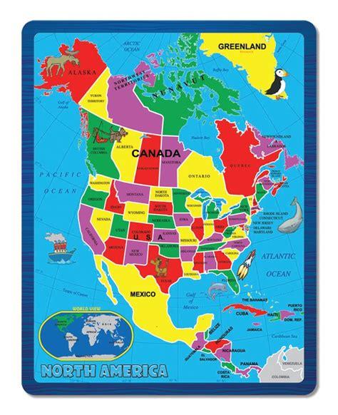 North America  The Continent Puzzle  Children s Puzzles ...