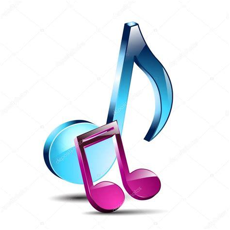 Notas musicales 3D — Vector de stock #52749011 — Depositphotos