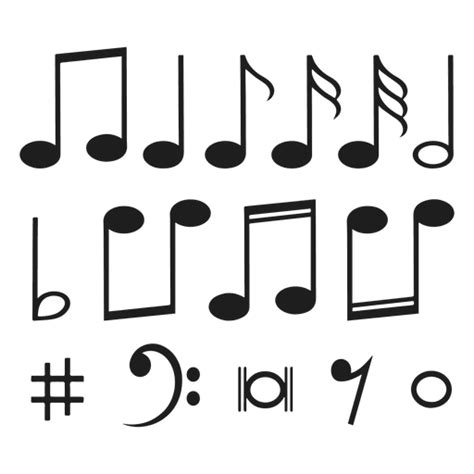 Notas musicales   Descargar PNG/SVG transparente