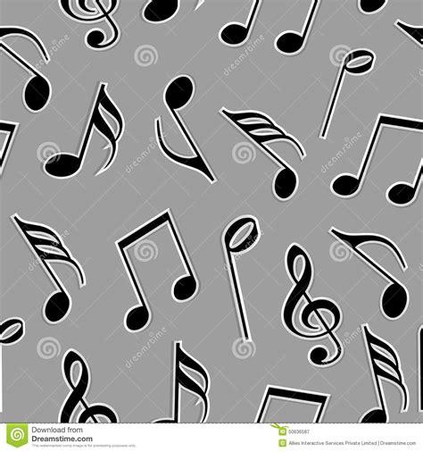 Notas Musicales En Color Blanco Y Negro Imagen de archivo ...