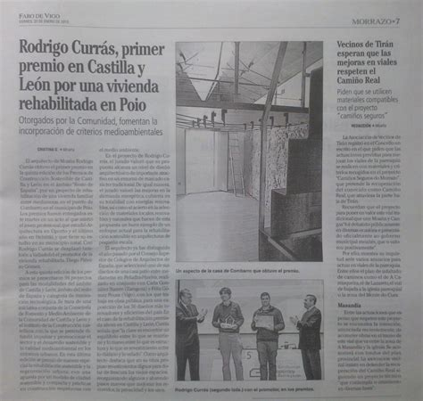Noticia en el Faro de Vigo (edición Morrazo) sobre el ...