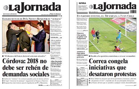 Noticias Guerrer@s SME: Periódicos LA JORNADA Córdova ...