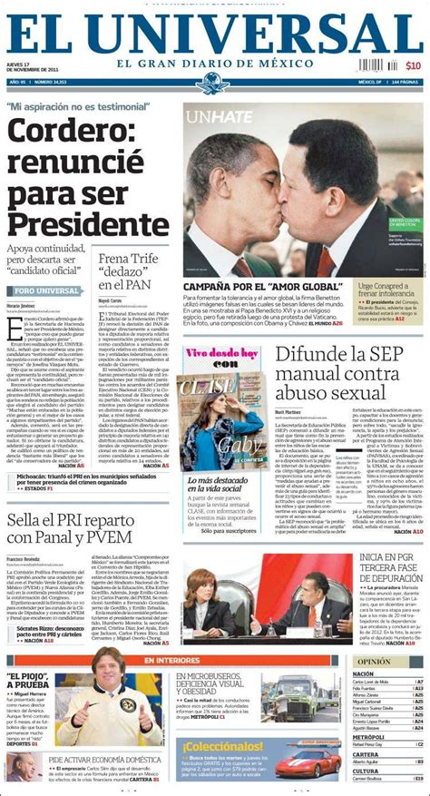 Noticias Guerrer@s SME: Primeras Planas Nacionales y ...