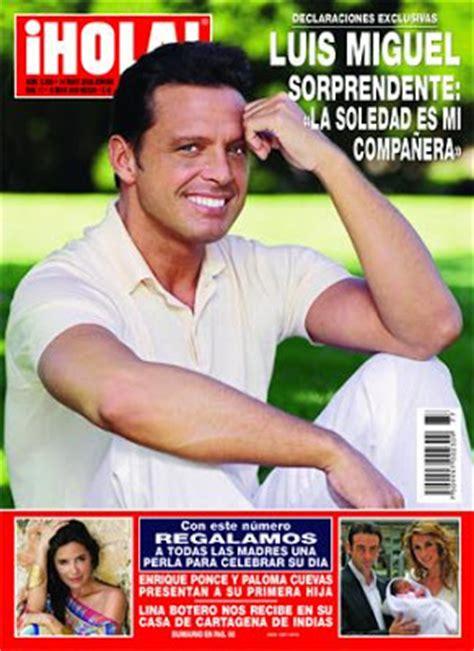 Noticias sobre Luis Miguel: mayo 2008