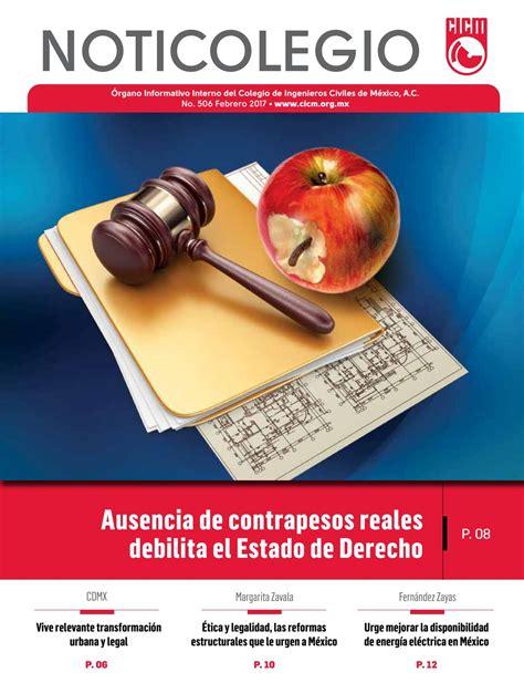 NOTICOLEGIO 506 by Colegio de Ingenieros Civiles de México ...