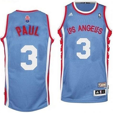 Nueva Camiseta Chris Paul 3 Los Angeles Clippers Aba Azul ...