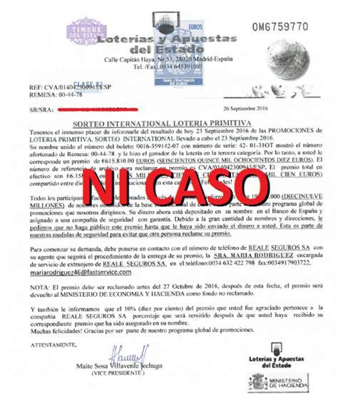Nueva estafa: la falsa Primitiva . hoy.es