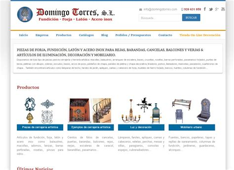 Nueva web responsive de Forja Domingo Torres ‹ Forja ...