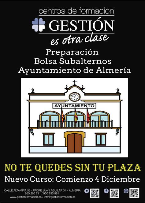 Nuevo Curso Bolsa Subalternos Ayuntamiento Almería ...