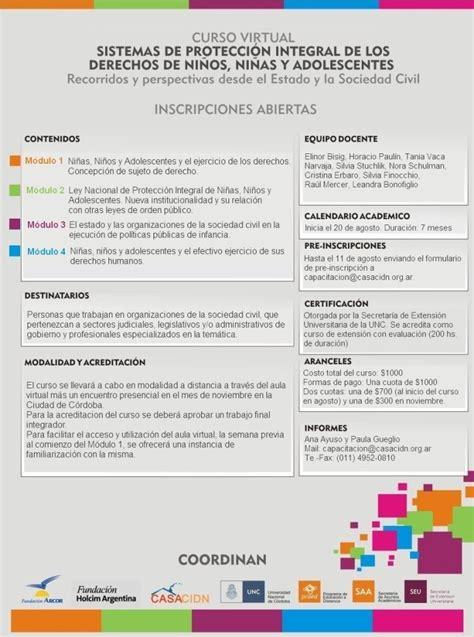 Nuevo curso virtual 2013: sistemas de protección integral ...