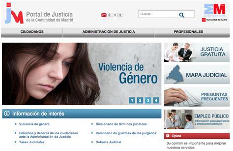 Nuevo portal de justicia de Madrid