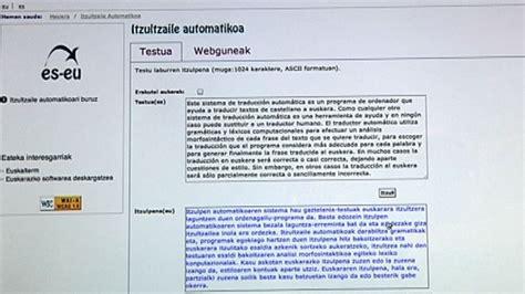 Nuevo traductor automático online Castellano-Euskera ...