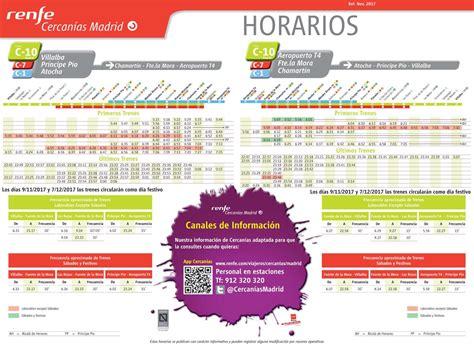 Nuevos horarios en las líneas de RENFE Cercanías Madrid a ...