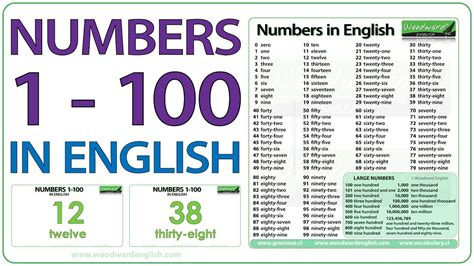 Numbers 1-100 in English - YouTube