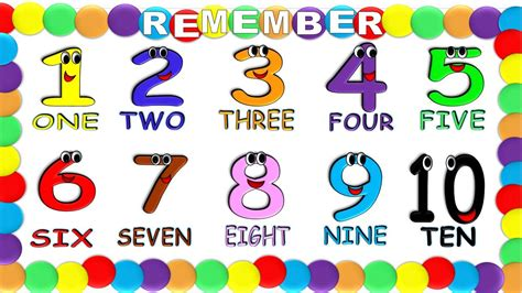 Numbers in English 1 to 10 for Children NEW!, Numeros en ...