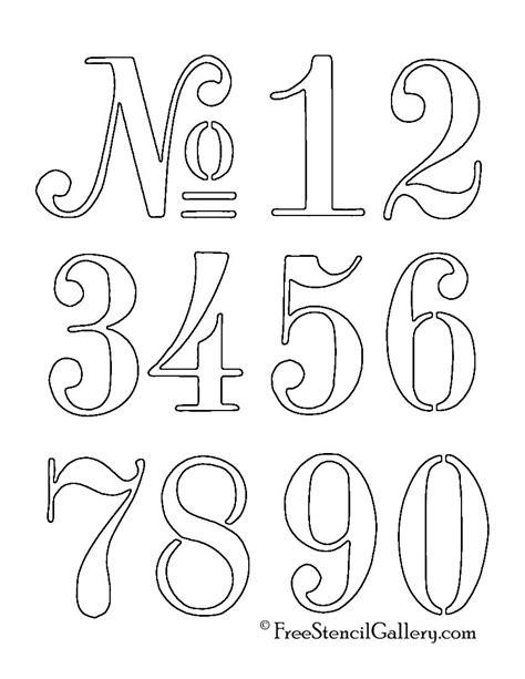 Numbers Stencil … | Pinteres…