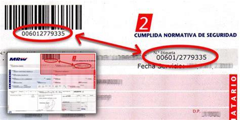 Número de envío  etiqueta