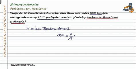 Números Racionales: Problemas con fracciones. 3º de ESO ...