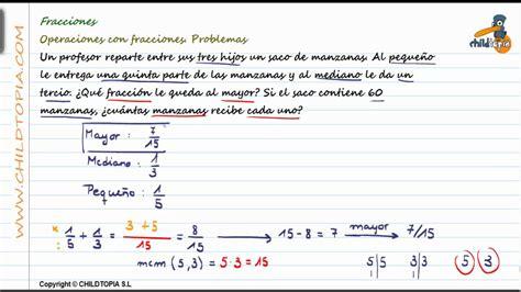 Números racionales: problemas con fracciones - YouTube
