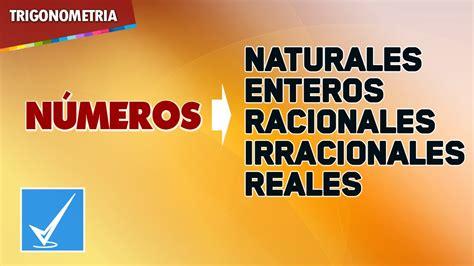Números Reales, Naturales, Enteros, Racionales e ...