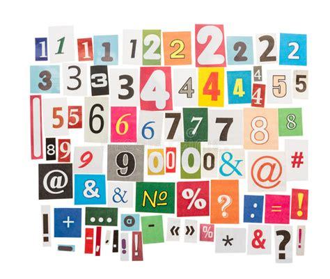 Números Y Símbolos De Los Periódicos Imagen de archivo ...