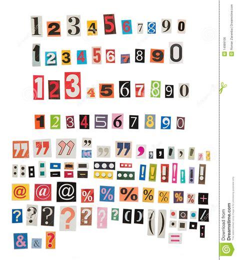 Números Y Símbolos Del Periódico Imagen de archivo libre ...