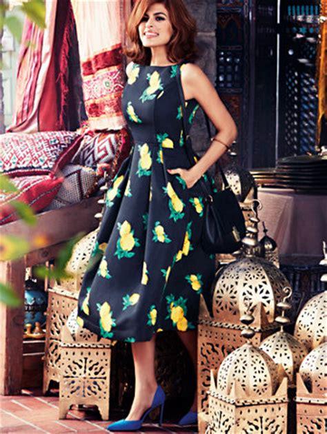 NY&C: Eva Mendes Collection   Felicity Dress   Lemon Print