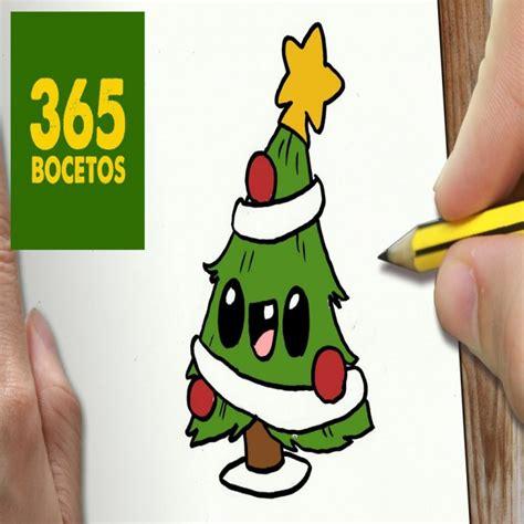 O Dibujar Arbol Navidad Kawaii Paso A Paso Dibujos Kawaii ...