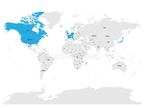 O Grupo De Sete Países, G7, Destacou No Mapa Do Mundo ...