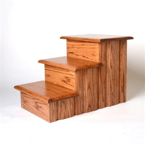 Oak Wood Solid Tread Pet Stairs