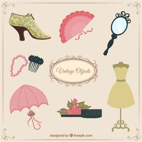 Objetos femininos do vintage | Baixar vetores Premium