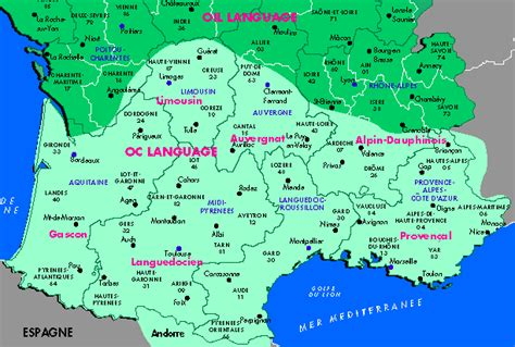 Occitan Provencal Language Map, by Provence Beyond