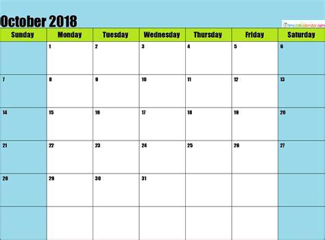 October Calendar 2018 Malaysia   Free Printable Calendar ...