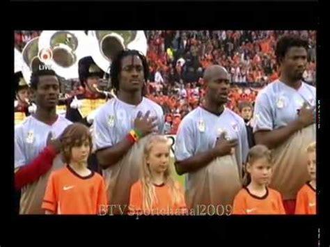 Oefeninterland   Nederland   Ghana   het volkslied van ...