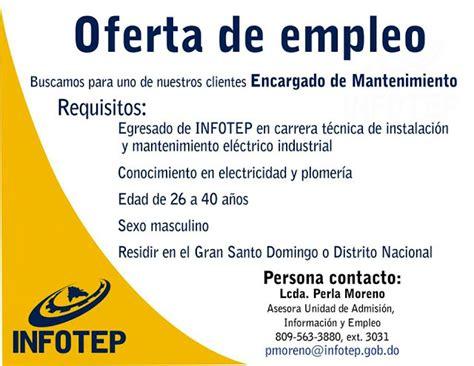 Oferta de Empleo como Encargado de Mantenimiento ~ Ayuda ...