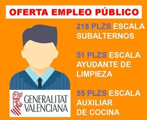 OFERTA EMPLEO PÚBLICO GENERALITAT VALENCIANA | Grupo Venfor