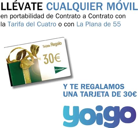 Oferta para portabilidades a Yoigo en El Corte Inglés ...