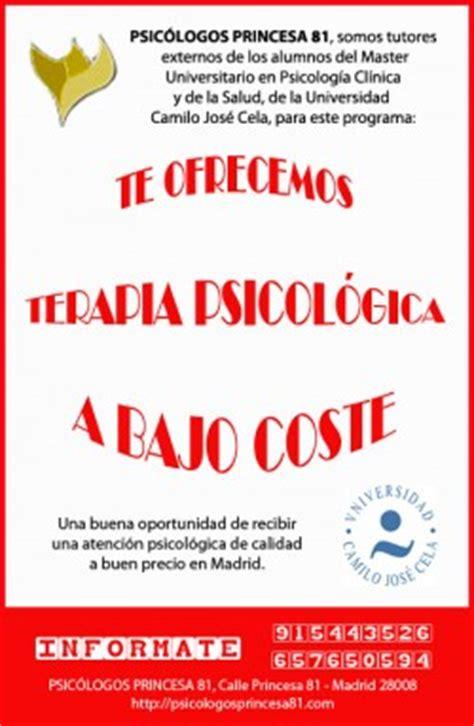 OFERTA TERAPIA PSICOLOGICA A BAJO COSTE MADRID