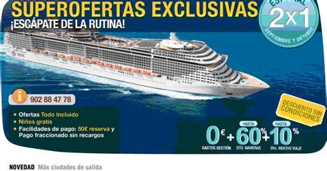 Ofertas cruceros, especiales 2x1 septiembre y octubre en ...