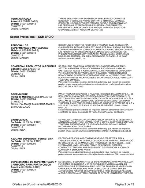 Ofertas de empleo en las Islas Baleares