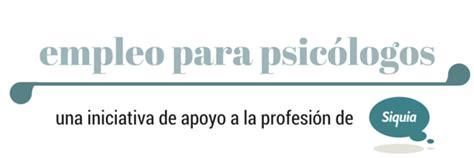 Ofertas de empleo para psicólogos. Selección de abril ...