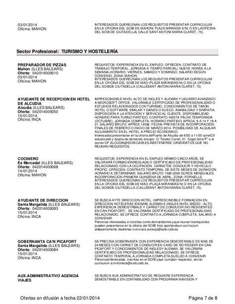 Ofertas Empleo Soib Enero 2014