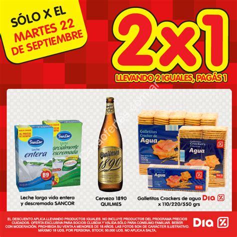 Ofertas Tiendas Dia% Martes 22 de septiembre: 2×1 en ...