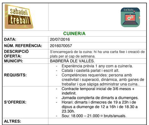 Ofertes de feina destacades: Xaloc, Sabadell Treball ...