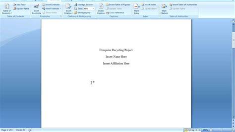 Office 2007 APA Formatting - YouTube