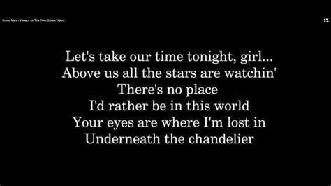 [Official Lyrics] Bruno Mars   Versace on The Floor Lyrics ...